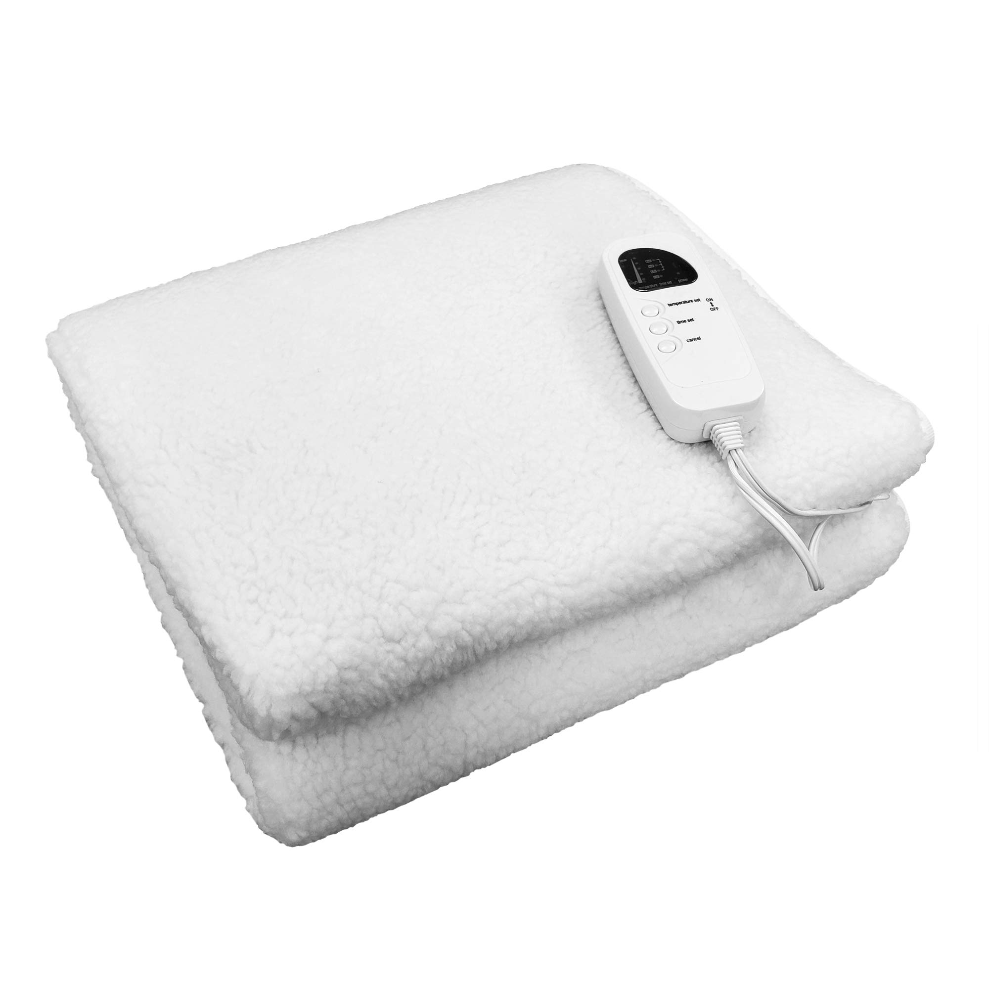 Deluxe Massage Table Warmer Pad Cover Fleece Blanket- 5 Heat Settings by TOA Supply
