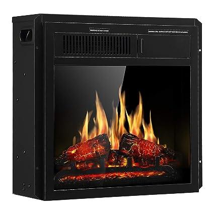 amazon com jamfly electric fireplace insert 18 freestanding heater rh amazon com fake fireplace insert heater fireplace heater insert tubes