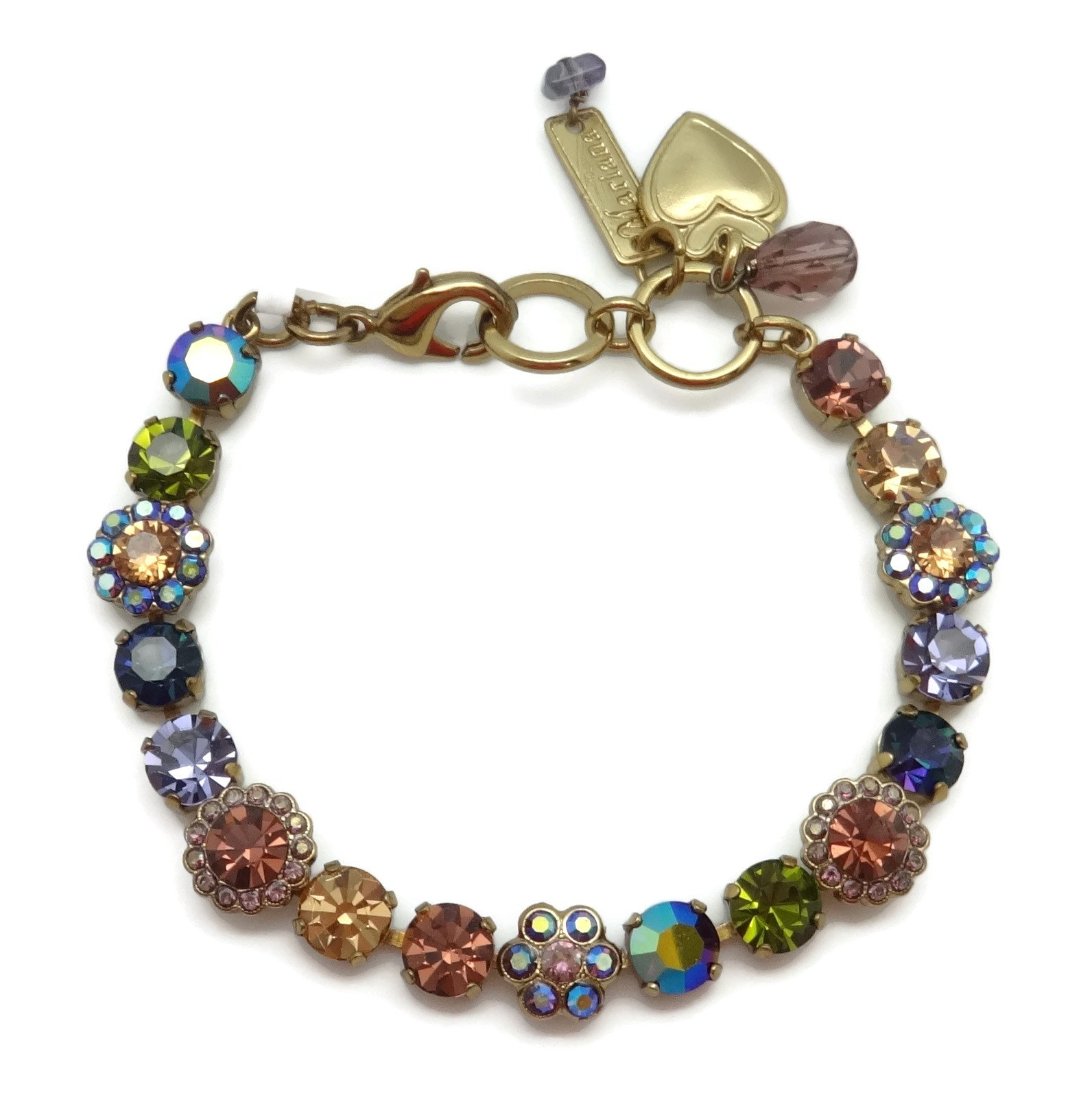 Mariana Swarovski Crystal English Gold Plated Bracelet Multi Color Mosaic 1089 Odyssey Penelope