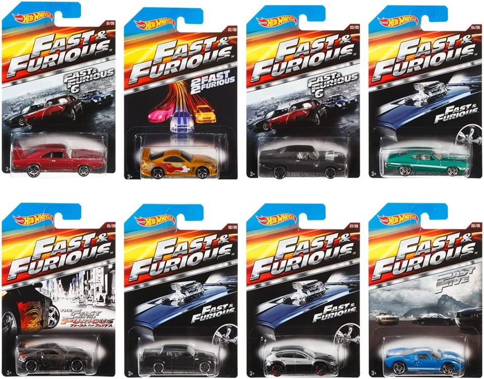 Hot Wheels Fast and Furious Complete Set (Set of 8) 1:64 Diecast ...