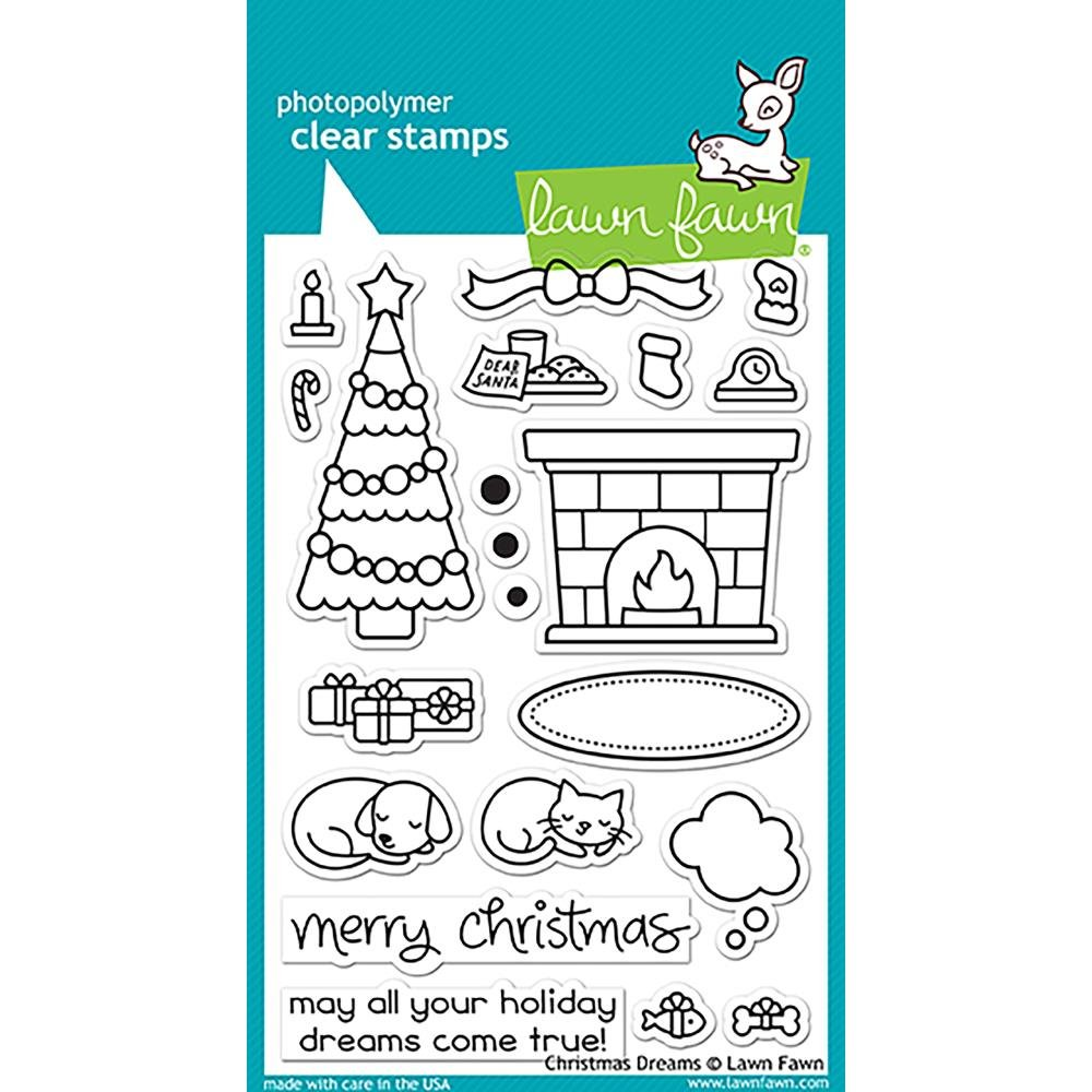 LAWN FAWN Clear Stamps 4X6 Christmas Dreams Оnе Расk LF1466
