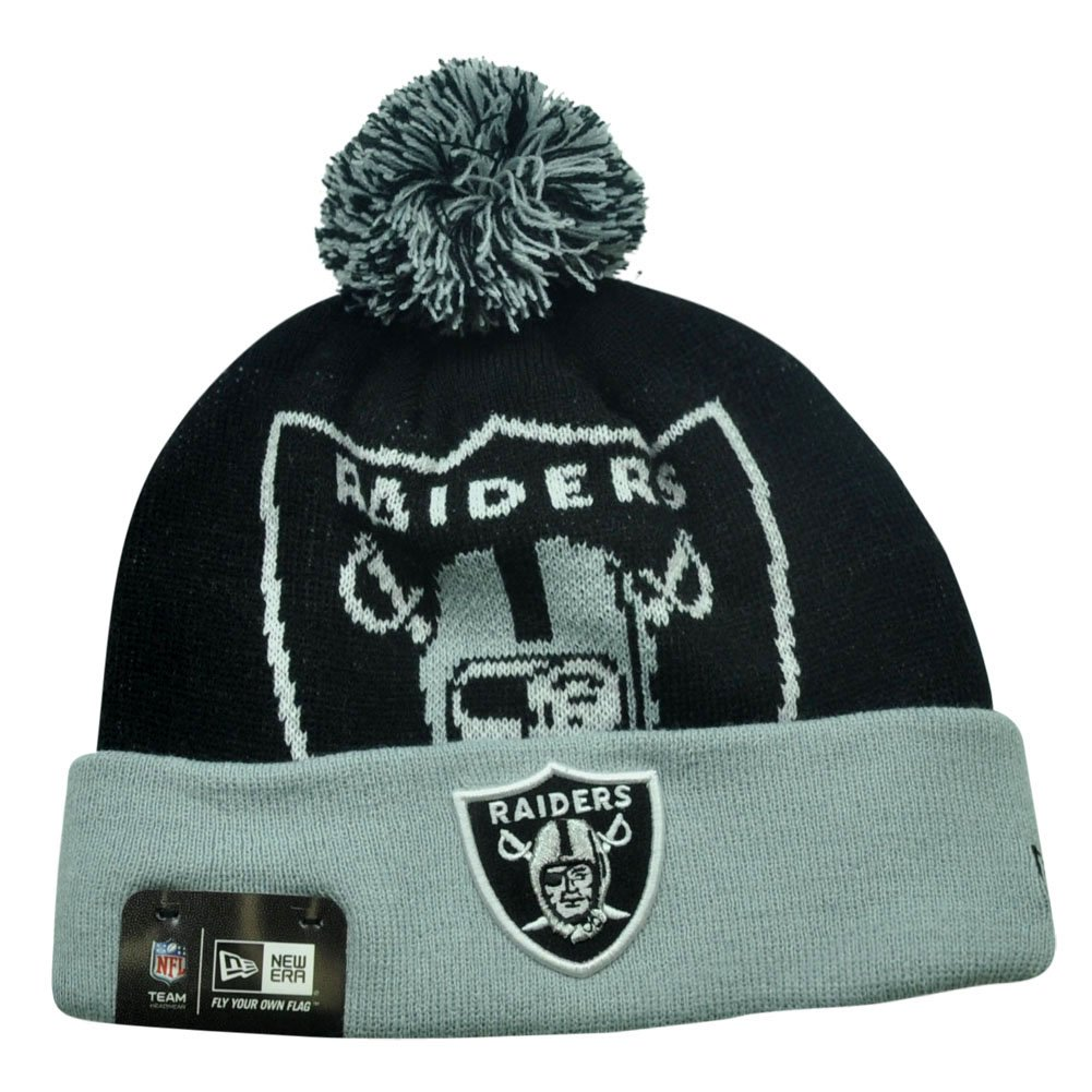 Amazon.com   Oakland Raiders New Era NFL Woven Biggie 2 Cuffed Knit Hat    Sports   Outdoors d3b76b5c4