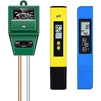 Zarfmiya PH Meter, TDS PPM Meter,Soil PH Tester,PH/EC Digital Kit, Soil Tester Combo PH Meter for Plants Garden