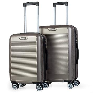 ITACA - Juego Maletas de Viaje Trolley Set 55/67 cm ABS ...