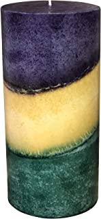 product image for Wicks N More Mardi Gras Scented Pillar Candles (3x6)