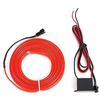Amazon.com: LED Flash Flexible Neon Light Glow EL Strip Tube Wire ...