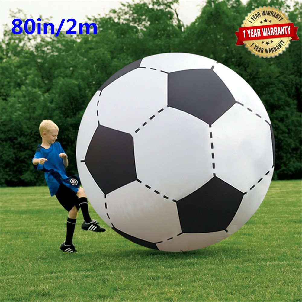 80In Over Sized Giant Inflatable Beach Football Floating Pool Soccer Ball for Party Play Game Toy by BroBee