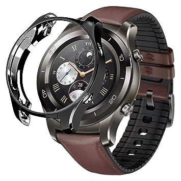 FOLOME Funda para Huawei Watch 2 Classic/2 Pro, Revestimiento de TPU Suave, a Prueba de arañazos, Protector de Parachoques