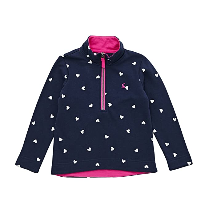 Joules Fairdale Half Zip Sweater Age 11-12 French Navy Heart