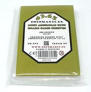 docsmagic.de 100 Mini American Plus Board Game Sleeves - 45 x 67 - Small US+ - Fundas: Amazon.es: Juguetes y juegos