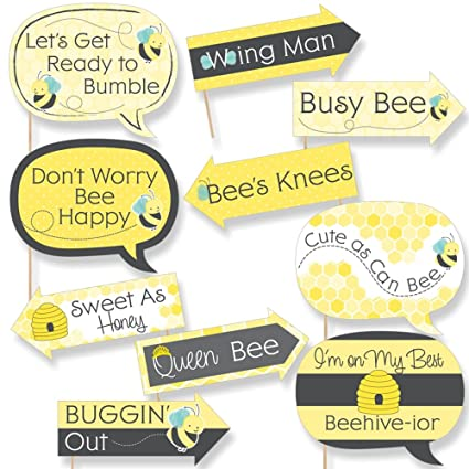 Amazon funny honey bee baby shower or birthday party photo funny honey bee baby shower or birthday party photo booth props kit 10 piece solutioingenieria Choice Image