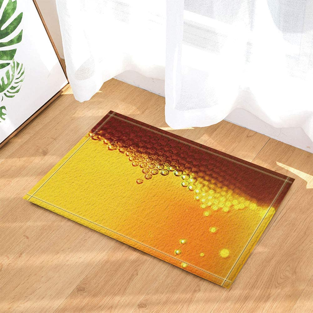 hdrjdrt Muchas Perlas de Piedras Preciosas Transparentes apiladas sobre un Fondo Amarillo Súper Absorbente, Resistente a la Suciedad, Duradero, sin Productos químicos
