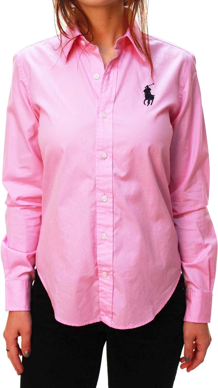 ladies pink ralph lauren shirt