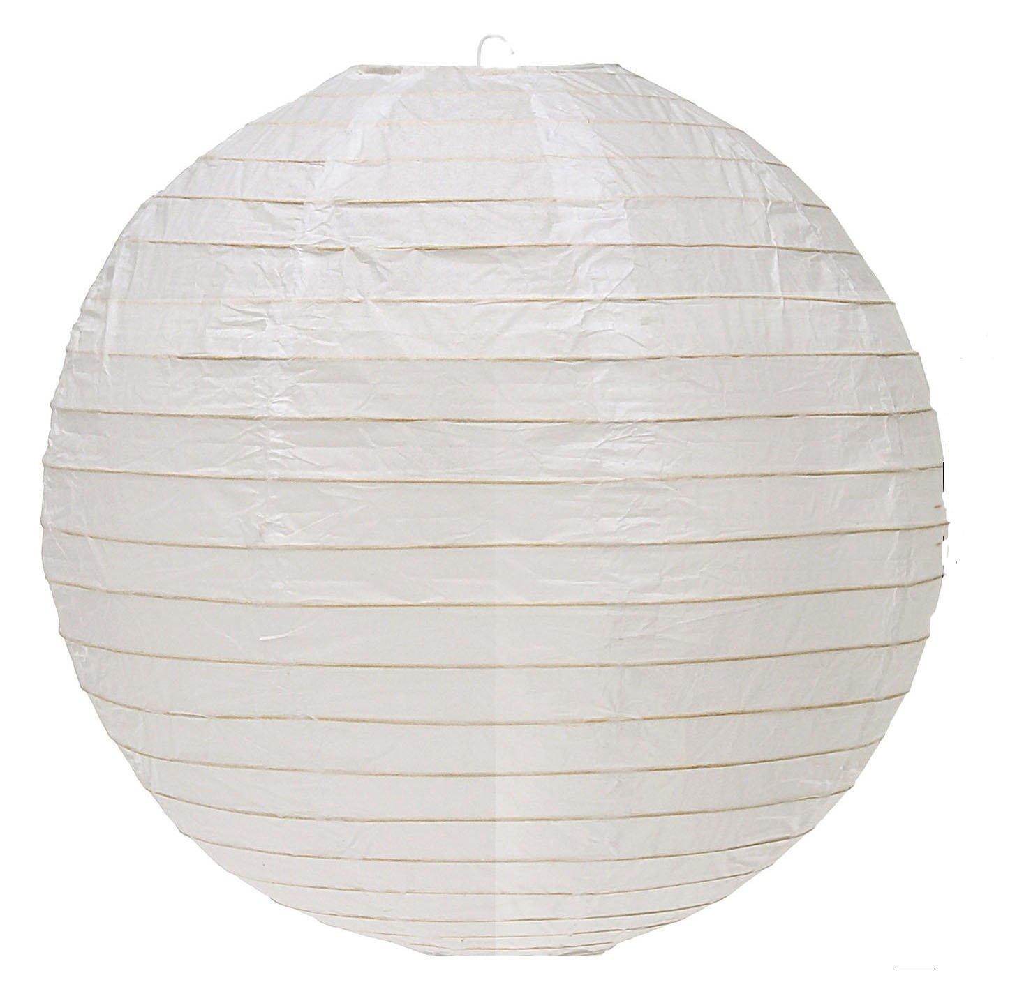 2X Generic GEN75465 12-Inch Paper Lantern Lamp Shades, White, 12-Pack