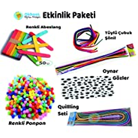 Etkinlik Paketi - Abeslang, Şönil, Oynar Göz, Quillling, Renkli Ponpon