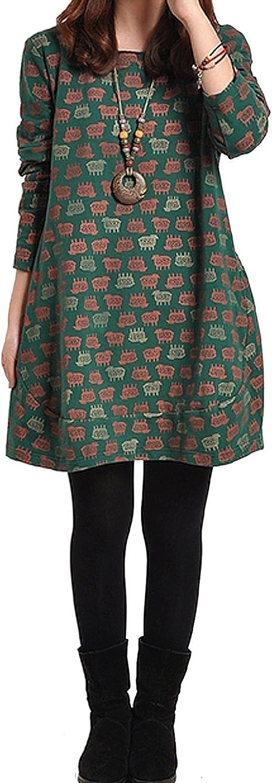 Ammy Retro para Mujer Cuello Redondo de Forro Polar Costura y Manualidades de tamaño Maxi Camiseta de Manga Corta e Instrucciones para Hacer Vestidos