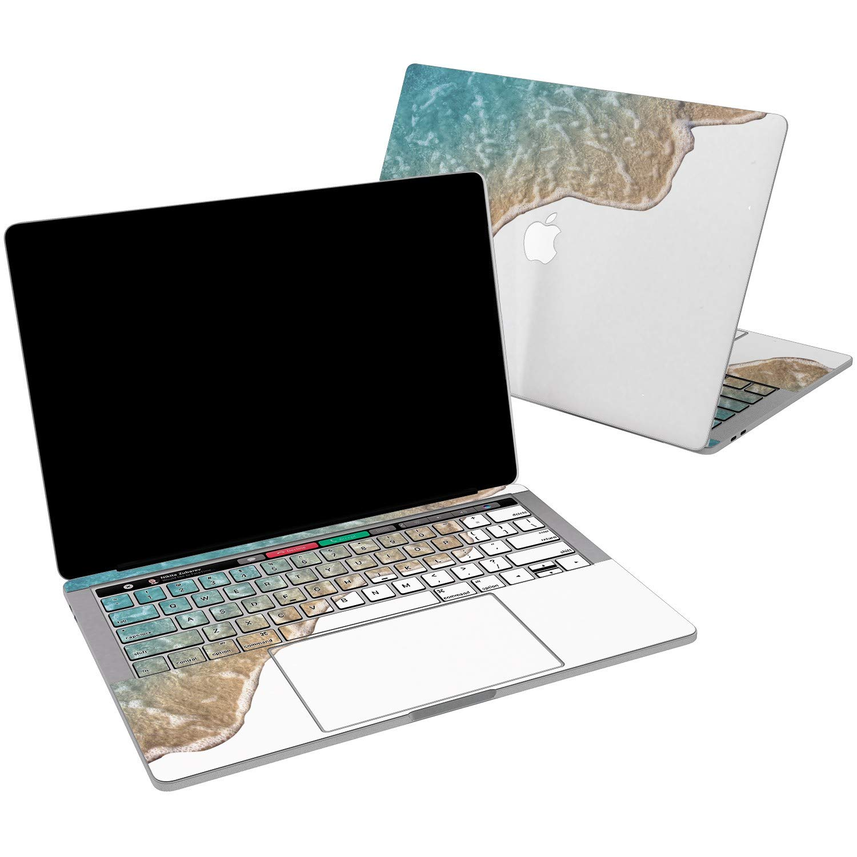 Lex Altern Vinyl Skin for MacBook Air 13 inch Mac Pro 15 Retina 12 11 2019 2018 2017 2016 2015 Beautiful Beach Nature Ocean Wave Tides Summer Decal Sticker Touch Bar Wrap Design Cover Keyboard Girl