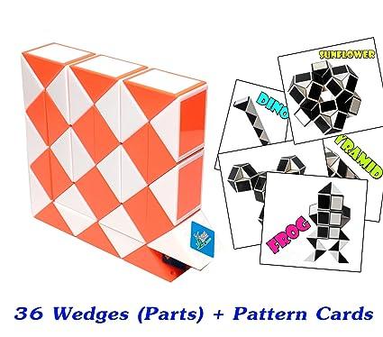 Amazon Rubik Snake Twist Puzzle 40 Wedges Parts With Pattern Fascinating Rubik's Snake Patterns
