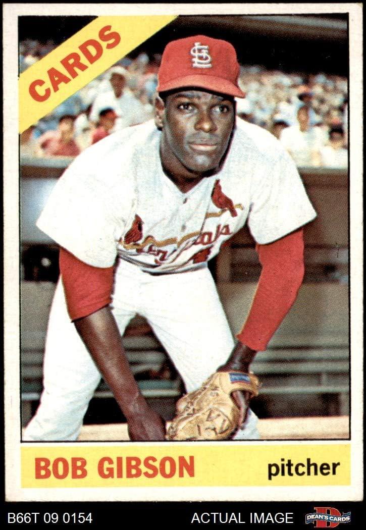 1966 Topps # 320 Bob Gibson St. Louis Cardinals (Baseball Card) Dean's Cards 5.5 - EX+ Cardinals 71v1vl3UFoLSL1050_