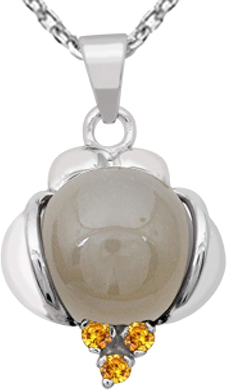 Sencillo Colgante en piedra de la luna Plata de ley 925 Orchid Jewelry