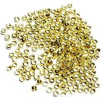 shamjina 1000x Rondelle Spacer Bead DIY Beading Stopper Fit Earring Necklace Bracelet - Golden, as described