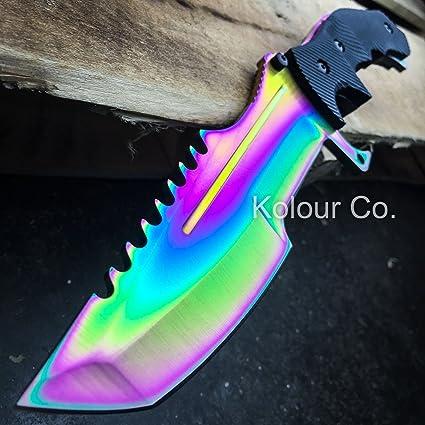 Amazon.com: csgo Huntsman cuchillo de hoja fija de caza ...