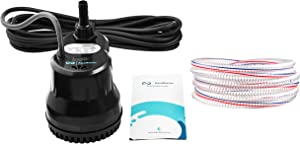 Aquabeacon Pool Cover Pump 600GPH - 16 Foot Heavy-Duty Kink Proof Hose, Weather Resistant and Rust Proof - Above Ground and In Ground Pool Cover Water Pump