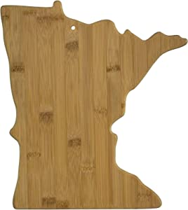 Totally Bamboo Minnesota State Shaped Bamboo Serving & Cutting Board