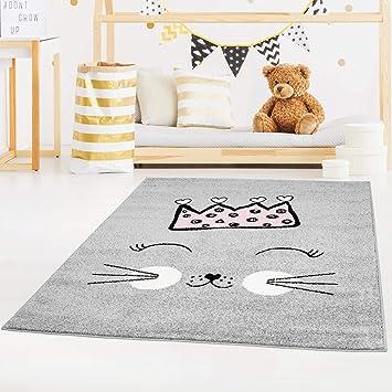 Carpet City Tapis Enfant à Poils Plats Pour Chambre Du0027enfant Motif  Chouettes En Crème