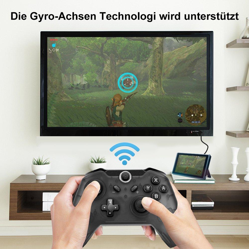 Maexus Switch Controller, Wireless Controller für Nintendo Switch, Bluetooth Nintendo Switch Pro Controller, 6.0.0 Kompatibel