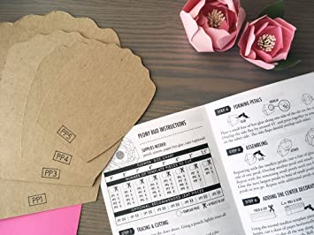 Amazon.com : Paper Flower Template Kit, 2