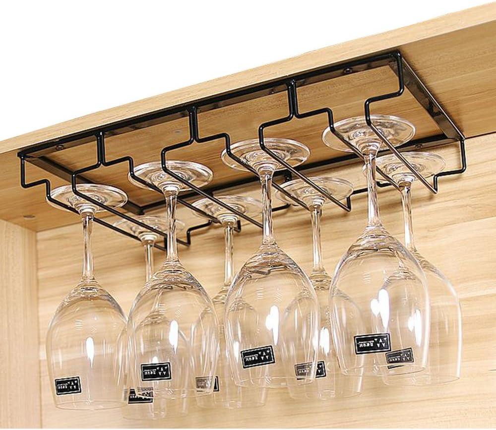 Edelstahl Glas Weinregale Champagner Cup Hangers Rack Gläserhalter Gläserschiene
