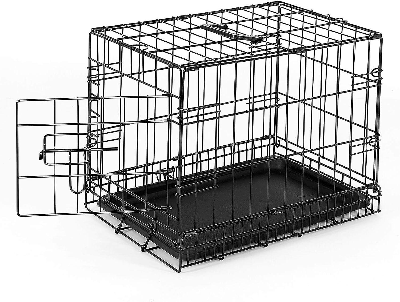 dibea Jaula transporte plegable para perros caja de transporte (S) 45x31x36 cm