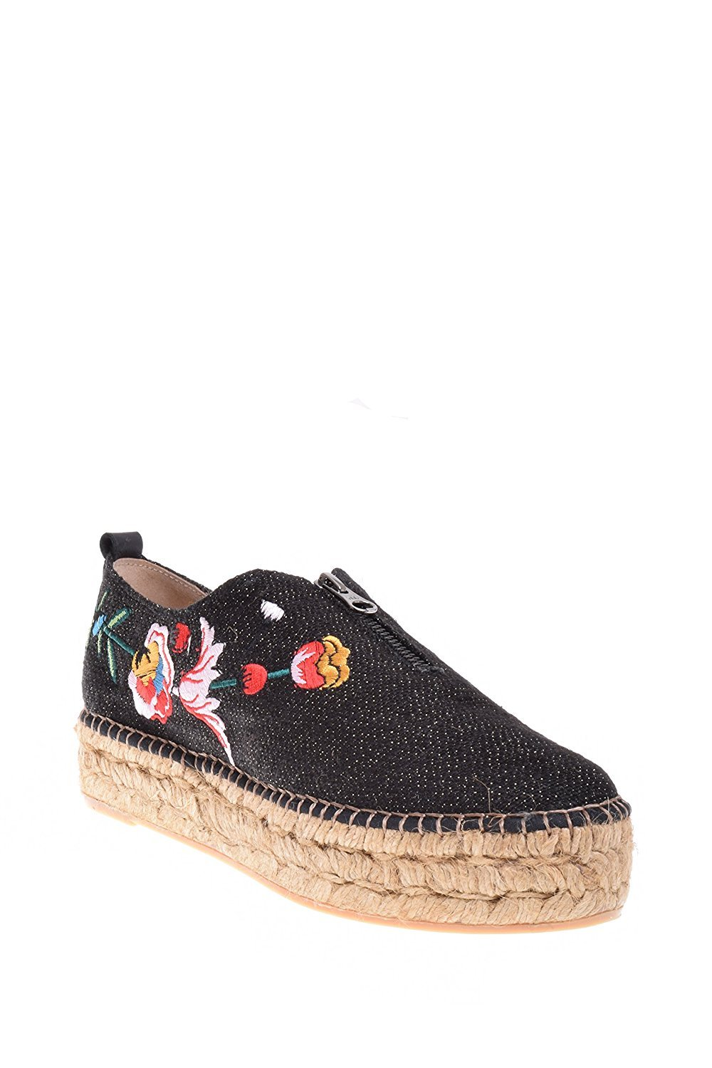 Eric Michael Serena Women's Zipper Slip ONS, Black Embroidered, 40