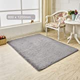Decdeal Ultra Soft Fluffy Rug Rectangle Shape Carpet Area Rugs Floor Mat for Living Room Bedroom Bathroom Home Decor…