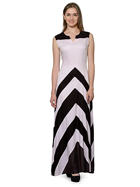 a81a05ce67d Patrorna Black and Pink A Line Empire Designer Dresses for Women and Girls   Amazon.in  Clothing   Accessories