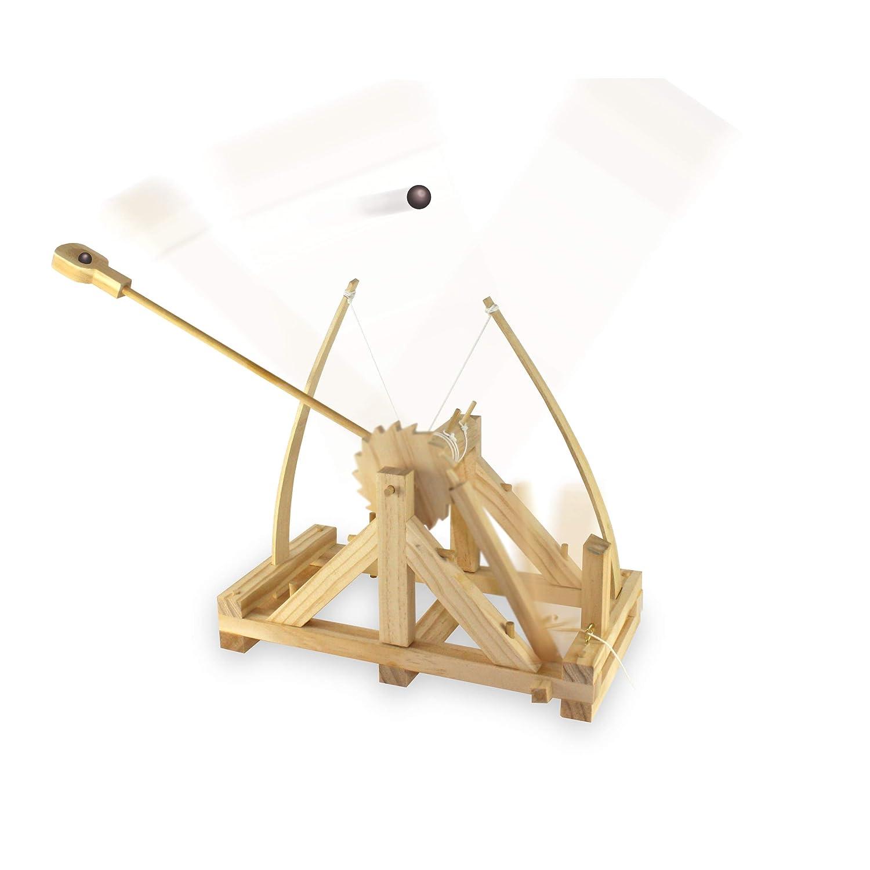 Leonardo da Vinci Catapult Kit Building Educational Toy Game Pre Cut Pieces