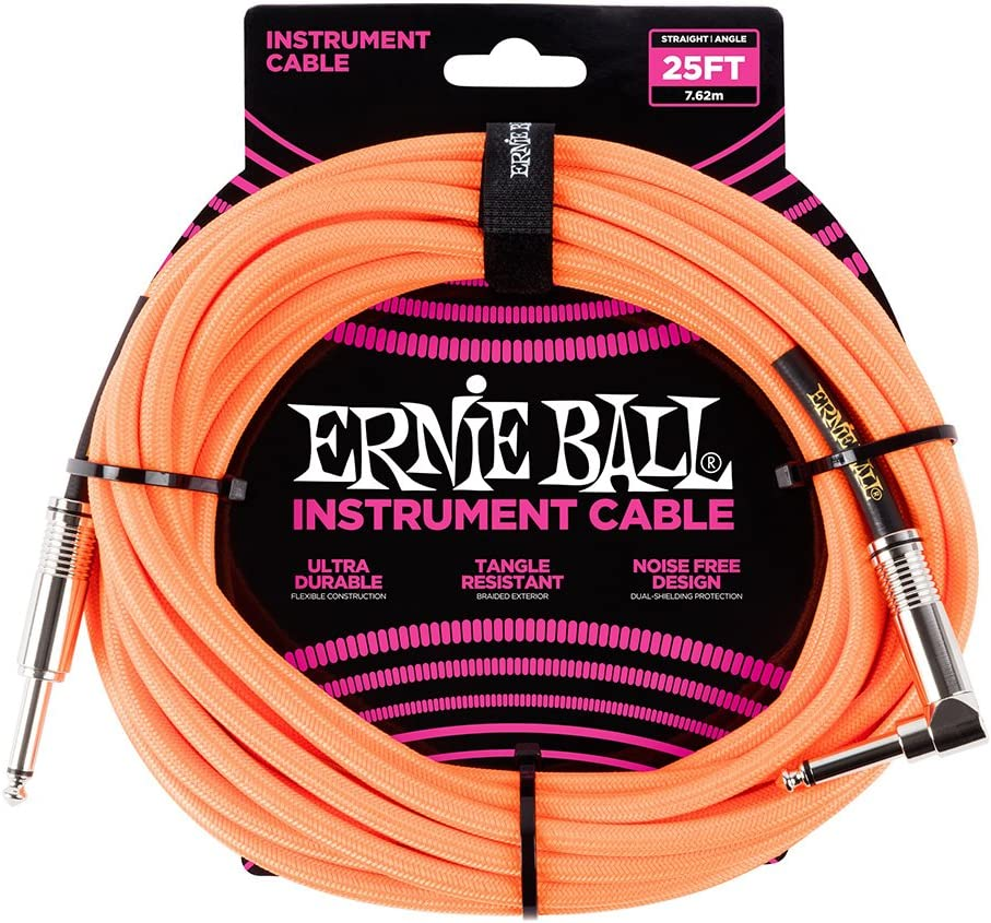 Neon Yellow 10 ft. Ernie Ball Instrument Cable