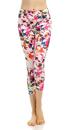 cc58a38a918752 Amazon.com: Funycell Women's Yoga Capris Pants Fitness Leggings ...