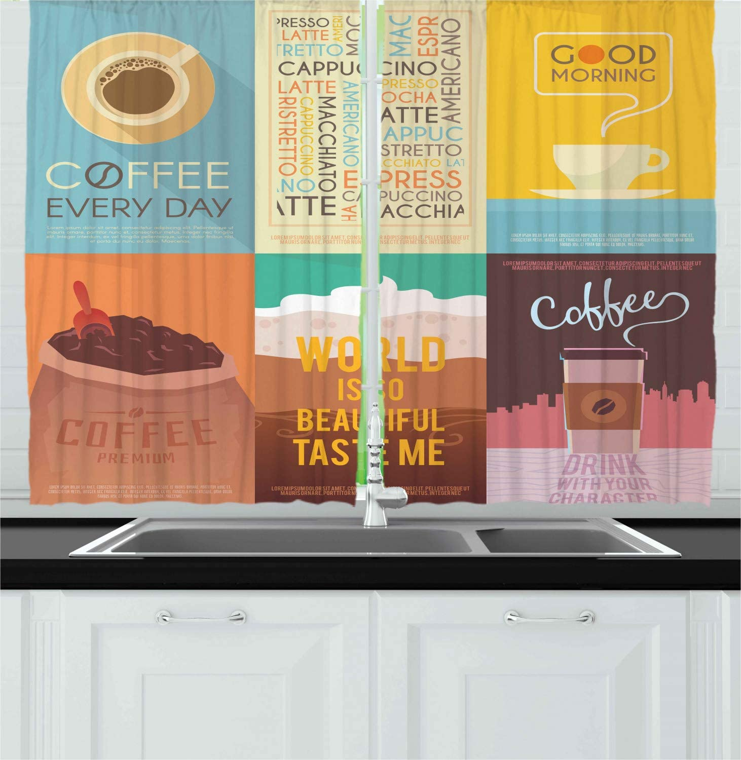 Kitchen Decor Coffee Themed Kitchen Curtains from images-na.ssl-images-amazon.com