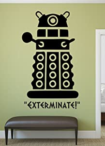 Doctor Who Decal - Dalek - Whovian Gifts, Doctor Who Wall Art, Vinyl Wall Decor For Your Home or Playroom, Doctor Who Decor