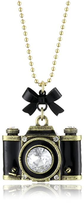 Amazon betsey johnson royal engagement large camera long betsey johnson royal engagement large camera long pendant necklace aloadofball Choice Image