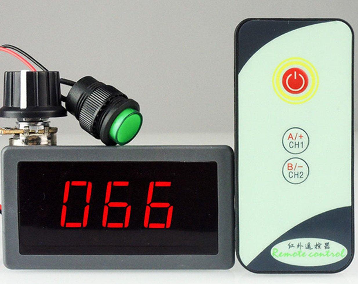 PWM 6V 12V 24V 5A DC Motor Speed Regulator with LED Digital Display IR Remote Controller