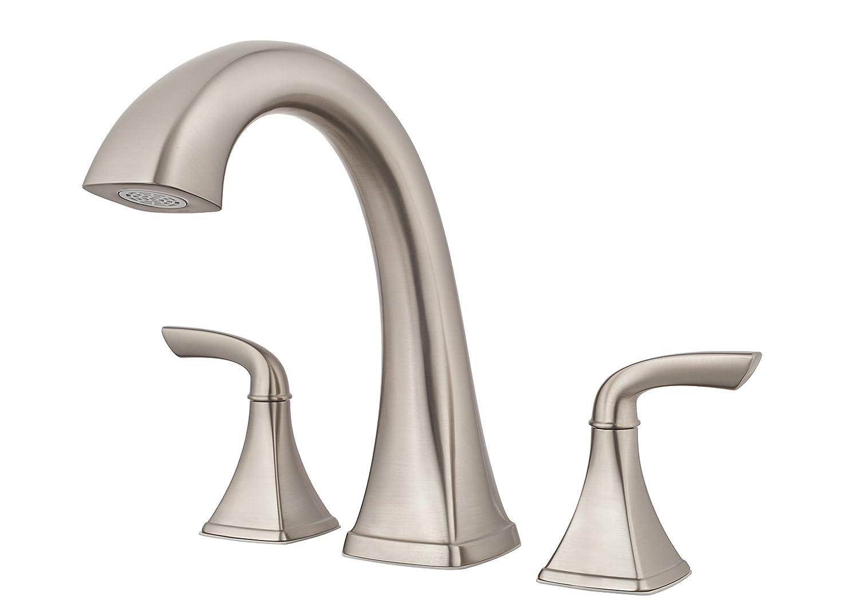 Price Pfister RT65BSK Bronson 2-Handle 3-Hole Roman Tub Faucet Trim, Brushed Nickel