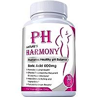 Supositorios de ácido bórico Nature's Harmony 30 unidades 600 mg 100% puro fabricado en Estados Unidos