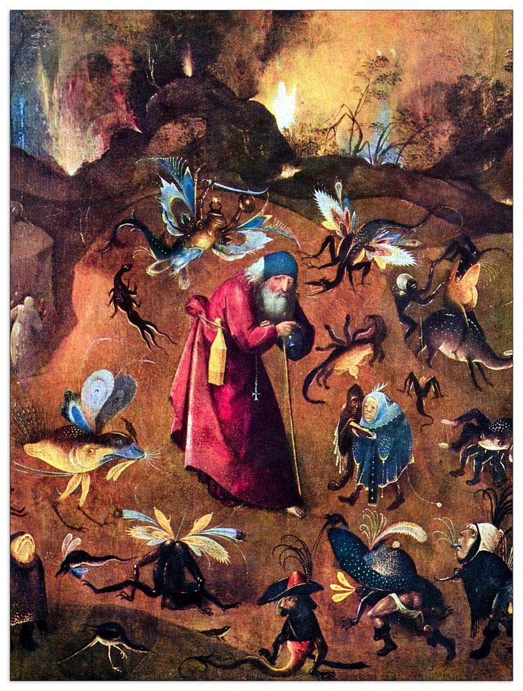 ArtPlaza TW93161 Bosch Hieronymus-Temptation of St. Anthony Decorative Panel, 27.5x35.5 Inch, Multicolored