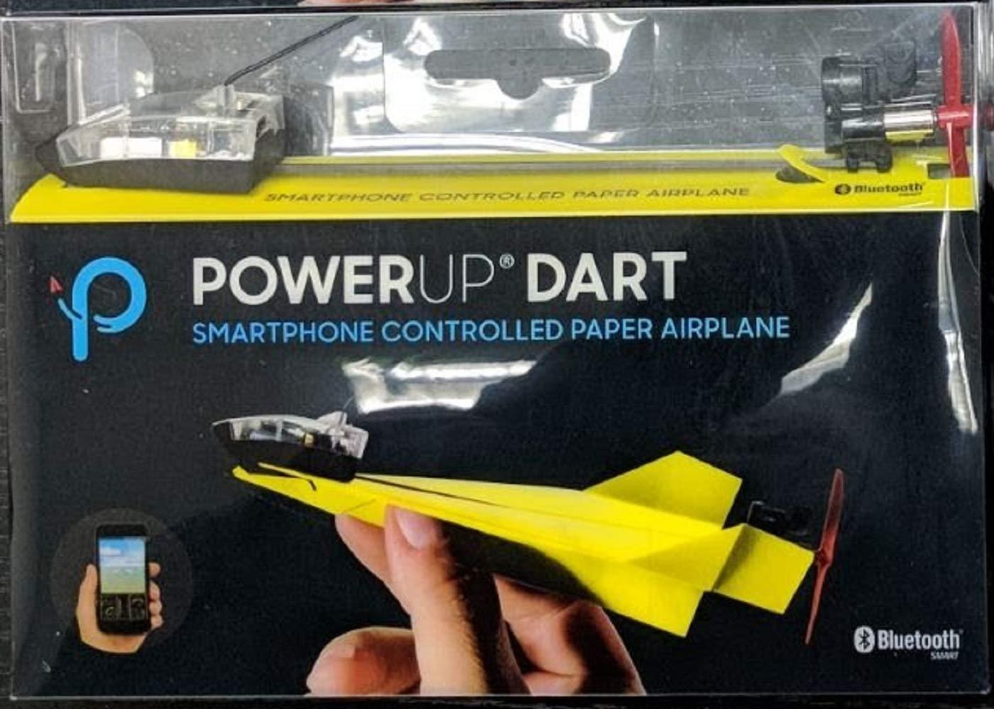 【カラー:イエロー】スマホで操作する紙飛行機 POWERUP DART 最高時速40キロとスピードも圧巻 並行輸入品 B07MXCZJMH