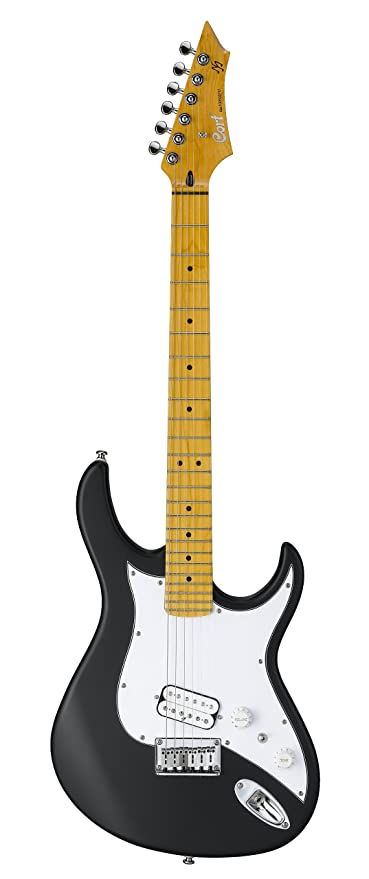 Cort garaje 1-bks Matthias Jabs firma guitarra – negro satinado
