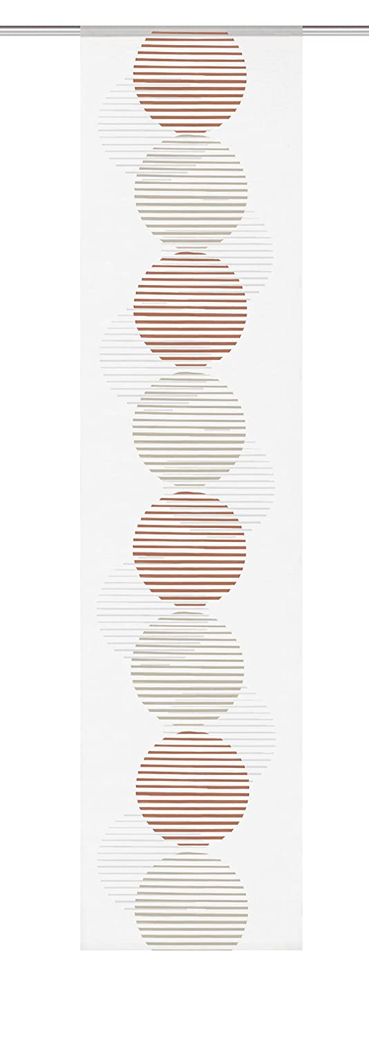 FASHION FOR HOME Home Fashion 86938Copper Height Sliding Panel Batiste Voile 245x 60cm