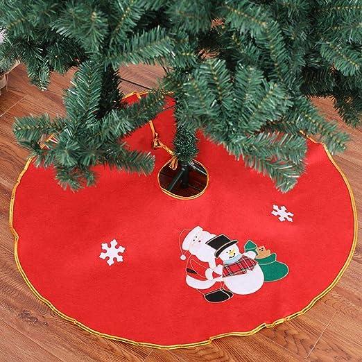 Siennaa couvre-Pied de árbol Navidad 90 cm Cache pie de árbol ...